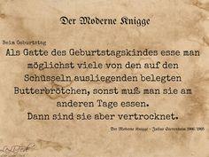 Aus: Der Moderne Knigge – Julius Stettenheim: Leitfaden für den Winter - beim Geburtstag (2) #Zitate #LeLiFe