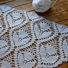 Victorian Fan and Flowers Crochet Bedspread Pattern, Lily Mills No 805 Crochet Diagram, Crochet Chart, Thread Crochet, Crochet Motif, Crochet Flowers, Crochet Lace, Crochet Stitches, Crochet Blouse, Filet Crochet
