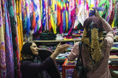 Iranian women at the bazaar. Shiraz Iran, Iranian Women, Middle East, September, Style, Swag, Stylus, Outfits