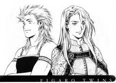 O Fortuna: Egestatem, Potestatem: Photo Final Fantasy VI: Edgar Roni Figaro, Sabin Rene Figaro