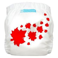 Canada Print One-Size Pocket Cloth Diaper - Order yours here: http://www.naturebumz.com/charlie-banana-pocket-diapers.html