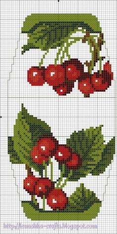 "Cherries. Gallery.ru / Схема. Сумочка-игольница ""Гвоздика"" - Схемы. Сумочки - игольницы - Lenu"