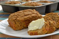 Protein Pumpkin Bread – Bariatric Foodie Yes, even pumpkin bread is possible after weight loss surgery! Learn to make this high-protein, low-carb fall favorite. High Protein Recipes, Protein Foods, Low Carb Recipes, Cooking Recipes, Diet Recipes, Diabetic Recipes, Pureed Recipes, Protein Bread, Atkins Recipes