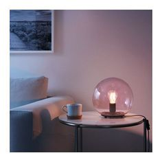 Delicieux FADO Table Lamp With LED Bulb IKEA Creates A Soft, Cozy Mood Light In Your