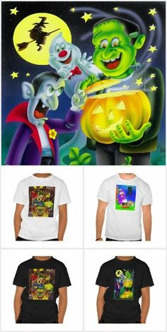 Halloween T shirt and sweaters
