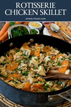 Rotisserie Chicken Skillet – A Family Feast® Rotisserie Chicken Skillet – A Family Feast®,Food Rotisserie Chicken Skillet – Dinner is served in about 30 minutes with this easy and flavorful recipe! There are images. Chicken Skillet Recipes, Healthy Chicken Recipes, Turkey Recipes, Beef Recipes, Healthy Dinner Recipes, Cooking Recipes, Cooking Tools, Pizza Recipes, Easy Recipes