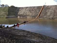 Moses Bridge gives people the chance to walk through parted waters!