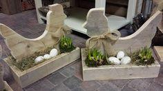 """Steigerhouten """" Kip op Nest """", te bestellen en te maken in onze worlshops @ GoedGevonden / Koog aan de Zaan"""