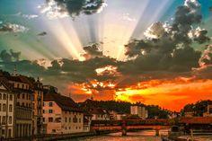 Sunset Lucerne, Switzerland