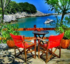 Shore of Ntamouhari ~ Eastern Pelion Mountain,Greece Albania, Macedonia, Bulgaria, Wonderful Places, Beautiful Places, Amazing Places, Summer Memories, Outdoor Furniture Sets, Outdoor Decor