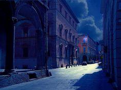 Per le vie deserte della città dei portici... by andreafarina610, via Flickr