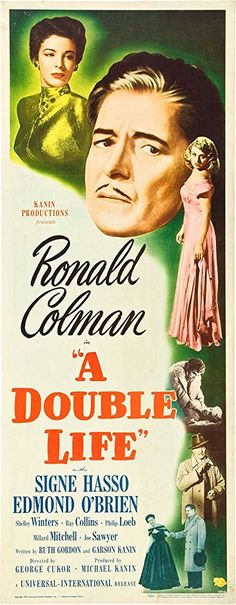 Shelley Winters, Ronald Colman, and Signe Hasso in A Double Life (1947)