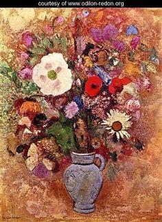 Bouquet Of Flowers - Odilon Redon - www.odilon-redon.org