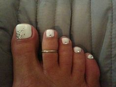 Pedicure wedding nails!
