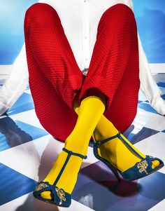 For Patricia Blanchet Paris Fashion Socks, Fashion Outfits, Editorial Photography, Fashion Photography, Female Photographers, Yellow Fashion, Poses, Editorial Fashion, Loafers