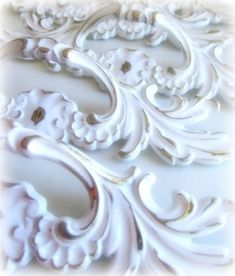 Shabby Chic Handles - spray painted and hung on tree for arch. detail