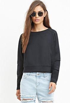 Short Grey Sweatshirt | Forever 21