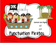 Perfect game for teaching children how to identify the correct ending punctuation!  $3.50  http://www.teacherspayteachers.com/Product/Punctuation-Mark-Pirates-951069