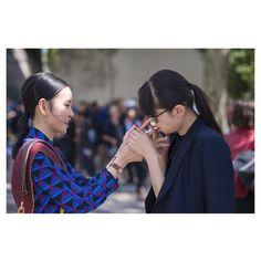 #LubakiLubaki   #AlexandreGaudin  @Sherry_Shen @Leaf_Greener During #PFW  www.lubakilubaki.com by Alexandre Gaudin  #StreetStyle #SherryShen #LeafGreener #Women #Friend #Street #Style #Smoke #Photo #NoFilter #FashionPost #Look #Chic #StreetFashion #Mode #Moda #Fashion #FashionWeek #FashionWeekParis #ReadyToWear #Menswear #Dior #SS17 #Paris http://ift.tt/2a91TWr