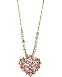 Hanging Hearts Pendant by Neck Accessories, Jewelry Accessories, Betsey Johnson, Jewelry Shop, Fashion Jewelry, Pink Necklace, Hanging Hearts, Rhinestone Jewelry, Jewelery