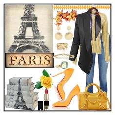 """Holiday to Paris"" by jeneric2015 ❤ liked on Polyvore featuring Leftbank Art, L'Oréal Paris, Balenciaga, Christian Louboutin, Jupe de Abby, Accessorize, SPINELLI KILCOLLIN and Pomellato"