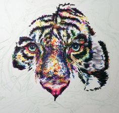 'White' Tiger - W.I.P 2 by kDdabous.deviantart.com on @deviantART