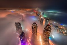 Rolling - Rolling fog hitting the Dubai Marina, taken from the Cayan tower.