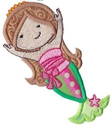 Magical Mermaids 3 Applique, SWAK Pack - 2 Sizes! | Featured Products | Machine Embroidery Designs | SWAKembroidery.com Bunnycup Embroidery