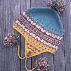Fair Isle and Norwegian knitting patterns-Sagebrush Chullo Knitting Pattern PDF Fair Isle Knitting Patterns, Knitting Kits, Knitting For Kids, Loom Knitting, Hand Knitting, Hat Patterns, Crochet Hat Earflap, Crochet Hats, Knit Hats