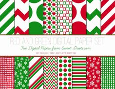 Free Christmas Digital Paper Set