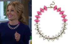 Fuller House Season 1, Episode 6: Click to find out where DJ (Candace Cameron Bure) got her pink and silver two-tone statement necklace #fullerhouse #djfuller #djtanner