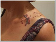 1000 images about dragon cherry blossoms tattoos on for Feminine collar bone tattoos