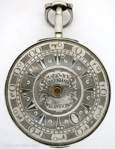 This is an English~Silver pair cased pocket watch Very unusual silver champleve Turkish dial and fully enclosed outer pair case~By Markwick & Markham~Circa 1802