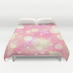 Pink Sparkling Joy Duvet Cover
