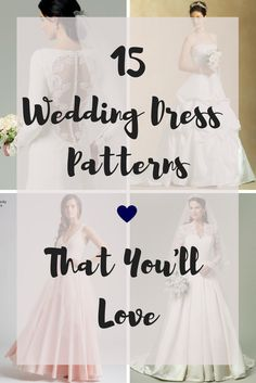 lots of patterns to sew your own wedding dress!