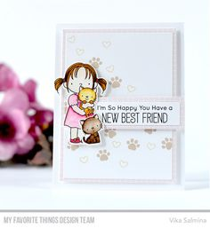 Stamps: New Best Friend Die-namics: New Best Friend Vika Salmina #mftstamps