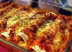 Spicy Chicken Enchiladas - The Enchiladas are a popular dish in Mexico. They can be filled with a variety of foods and are based on corn tortillas and commonly covers them with sauces. Comida Mexicana – Enchiladas.
