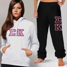 Sigma Kappa Sorority Hoody and Sweatpant Package #Greek #Sorority #Clothing #SigKap #SigmaKappa