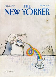 Ronald Searle, The New Yorker, 'Rainbow Tea', 1987