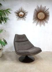 Vintage draaifauteuil Artifort swivel chair fauteuil F511 Geoffrey Harcourt www.bestwelhip.nl