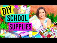 Back To School: DIY School Supplies!!! Tumblr Inspired - YouTube