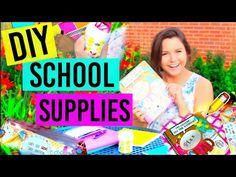 Back To School: DIY School Supplies!!! Tumblr Inspired - YouTube