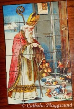 Printable Saint Nicholas Christmas puzzle