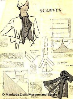 - On one side, instructions for smocking, with black and white pictorial examples of smocking in progress. On the reverse, instructions for making scarves, with illustrated pattern examples. Making Scarves, Craft Museum, One Sided, Smocking, The Twenties, Black And White, Illustration, Pattern, How To Make