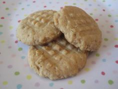 Peanut Butter Oatmeal Cookies.  Yummy healthyish cookies.  I made these with KA white whole wheat flour, reduced the honey a little, and added mini chocolate chips.  So great to have a really delicious cookie with no refined sugar.