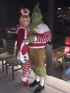 Grinch and Cindy Lou Who- couple costume