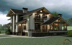 Home Country House Design, Bungalow House Design, Dream Home Design, Home Design Plans, Modern House Design, Hut House, Beautiful Modern Homes, Craftsman Floor Plans, Sims House Plans