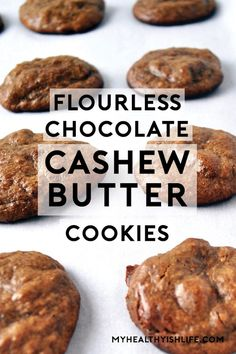 Made with few ingredients and easily customizable, these flourless cookies are paleo and gluten-free friendly. Paleo Desert Recipes, Nut Recipes, Dairy Free Recipes, Sweet Recipes, Gluten Free, Cookie Recipes, Paleo Sweets, Paleo Dessert, Healthy Dessert Recipes