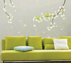 オールポスターズの「Spring Flowers and Birds」ウォールステッカー・壁用シール