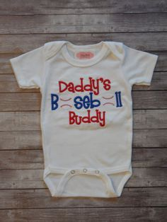Baby Boy Clothes Baseball Outfit Daddy's Baseball Buddy Newborn Boy Take Home Outfit on Etsy, $16.90 Clthes for your little hero -